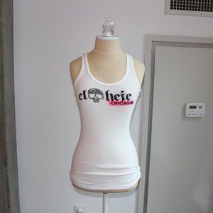 White Skull El Hefe Chicago Ribbed Tank Top